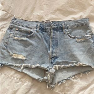 Barely Worn Light Wash Denim Shorts